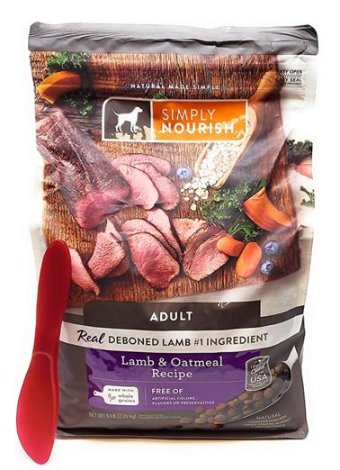 Simply Nourish Lamb and Oatmeal dog food