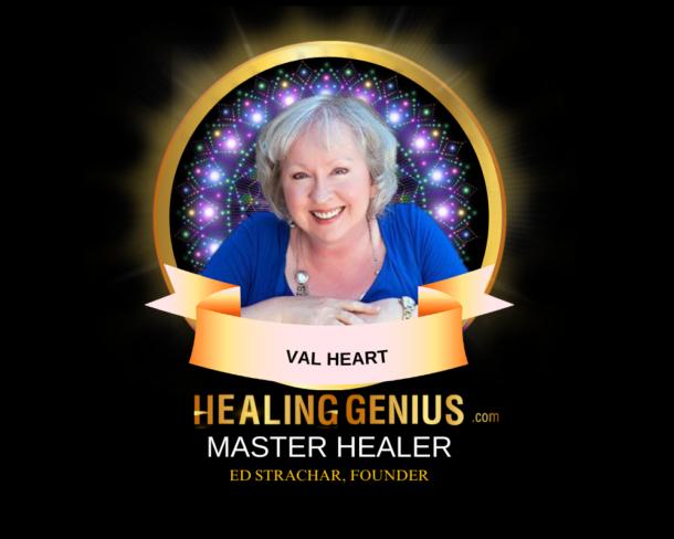 Certified Master Soul Healer Badge Val Heart